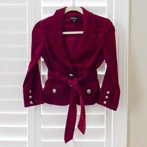 BEBE:  Fuschia Studded, Belted Jacket